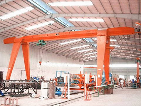 single girder indoor gantry crane sales